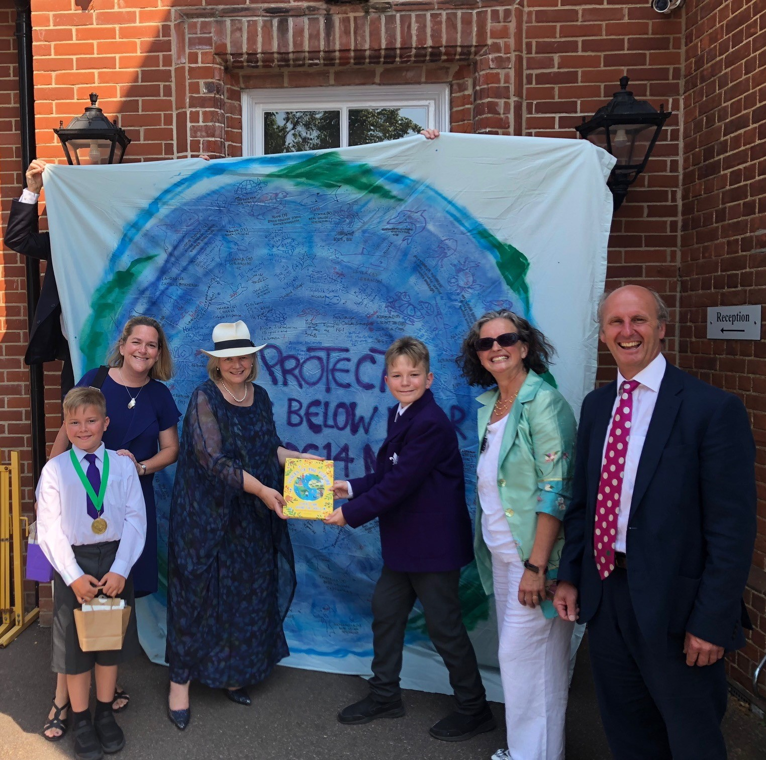 TSL Debates Blue Planet Banner comes home to King's UK - July 2018
